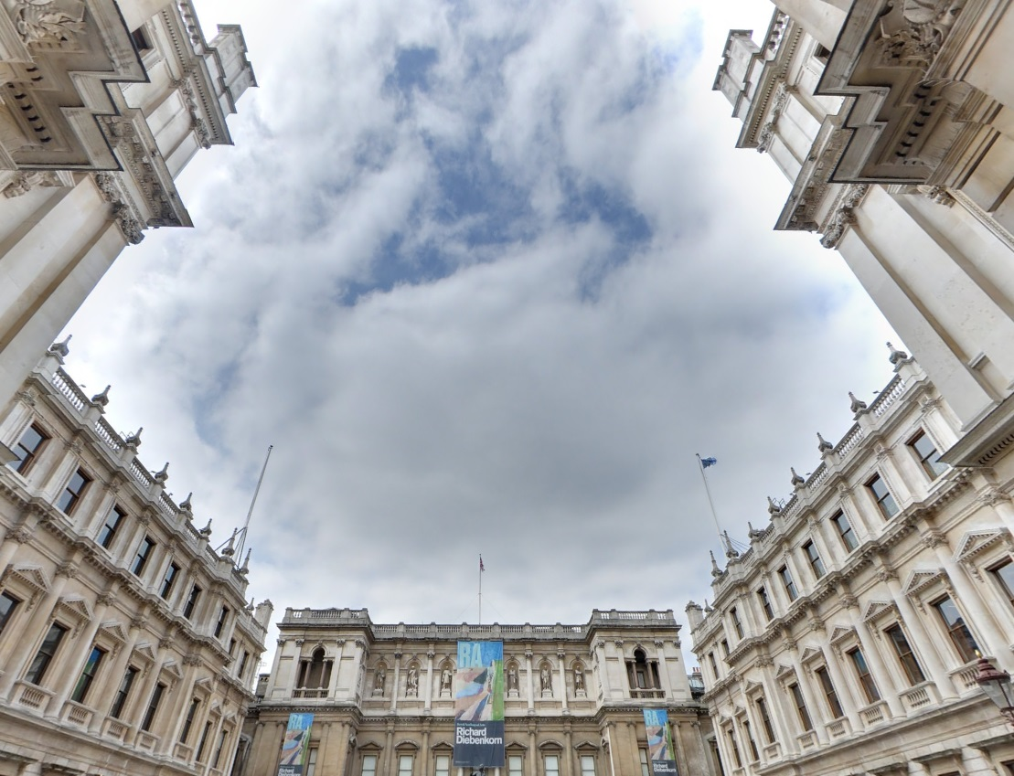 View of sky and square outside Burlington House