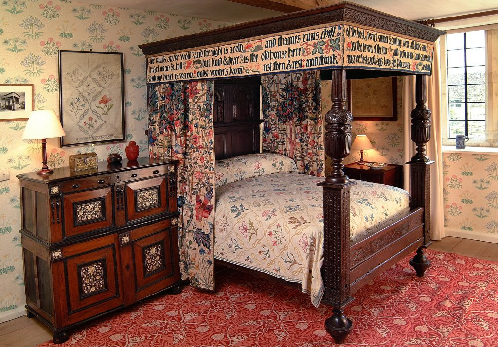 Interior view of William Morris's bedroom