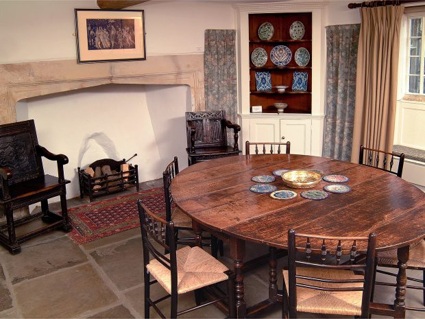 Interior of Kelmscott Manor - old hall