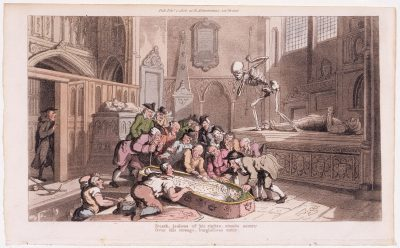 Death & the Antiquaries by Rowlandson c.1795