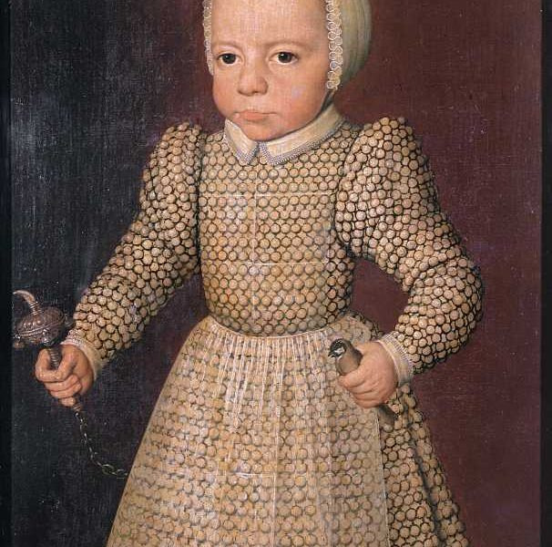 Image of Child with a Rattle