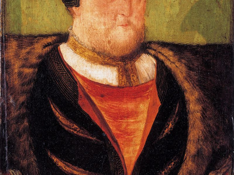Image of Henry VIII (pale green background) (1491-1547)