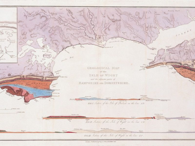 Image of Geological Map and Sections of the Isle of Wight and the Adjacent Parts of Hampshire and Dorsetshire