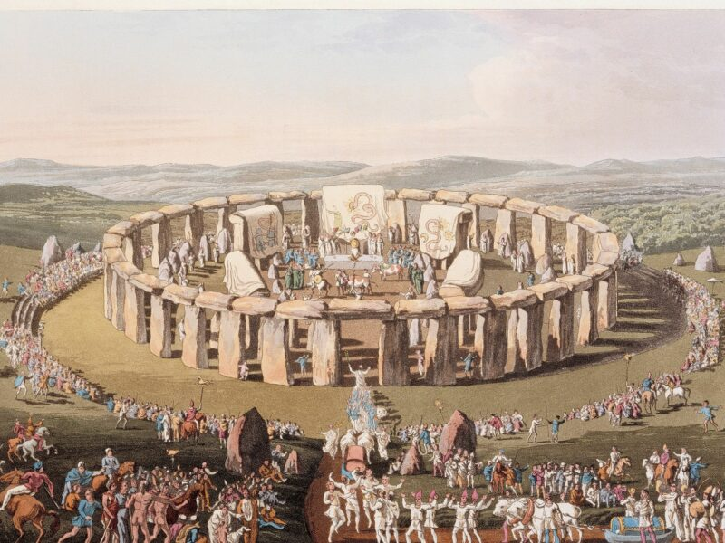 Image of Grand Conventional Festival of the Britons from Costume of the Original Inhabitants of the British Isles