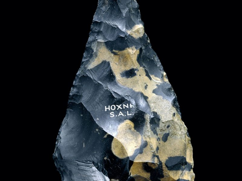 Image of Pointed handaxe from Hoxne, Suffolk