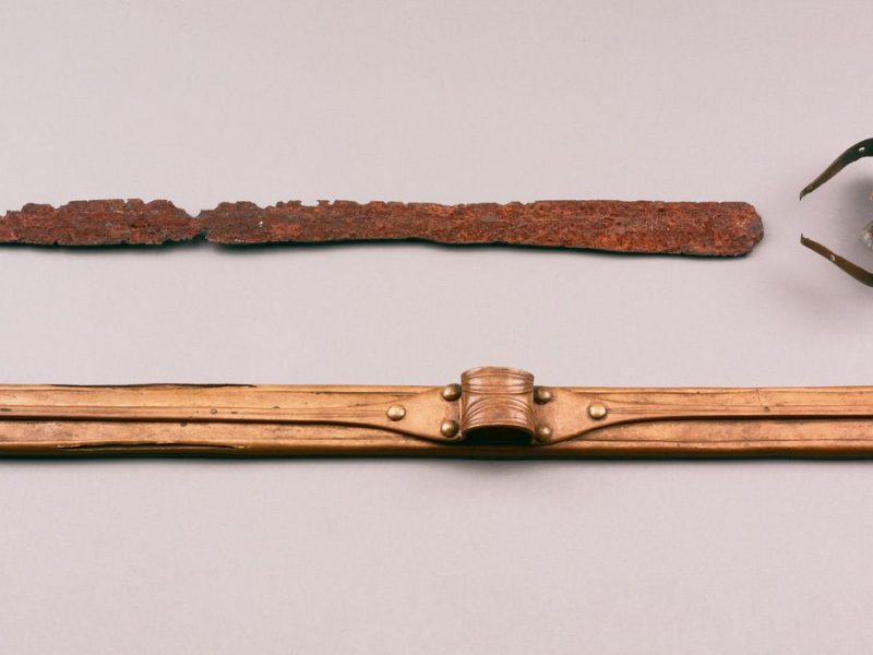 Image of Iron Age sword and scabbard from Cotterdale, Yorkshire