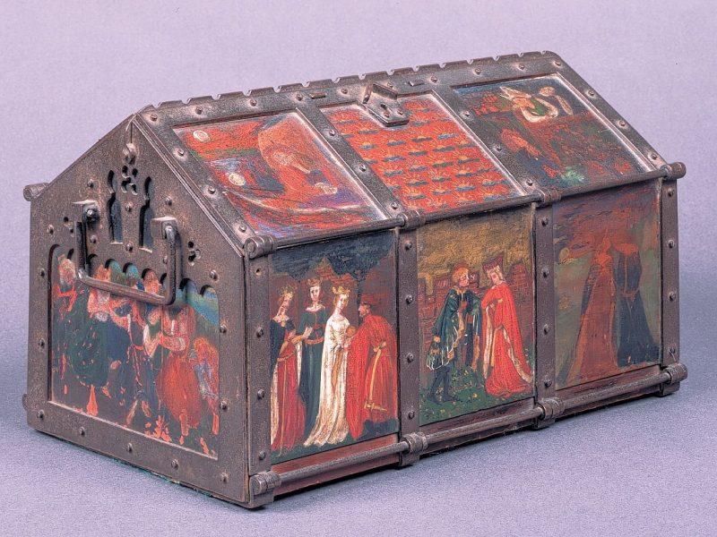 Image of Medieval-style jewel casket belonging to Jane Morris