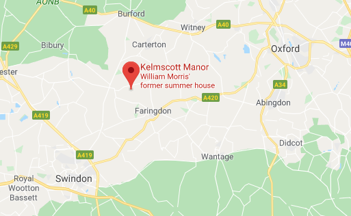 Kelmscott Manor map