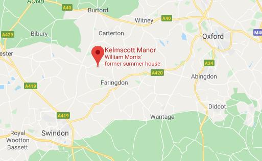 Kelmscott Manor map