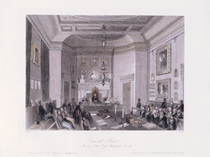 Image of Meeting at the Society of Antiquaries at Somerset House