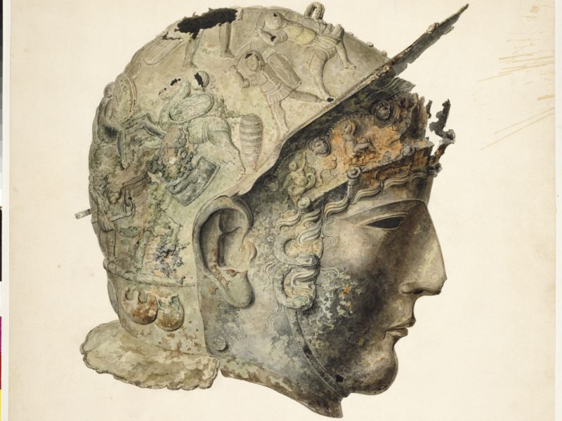 Image of Drawing of the Ribchester Helmet