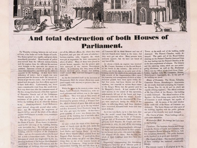 Image of The Burning of Westminster Palace in 1834