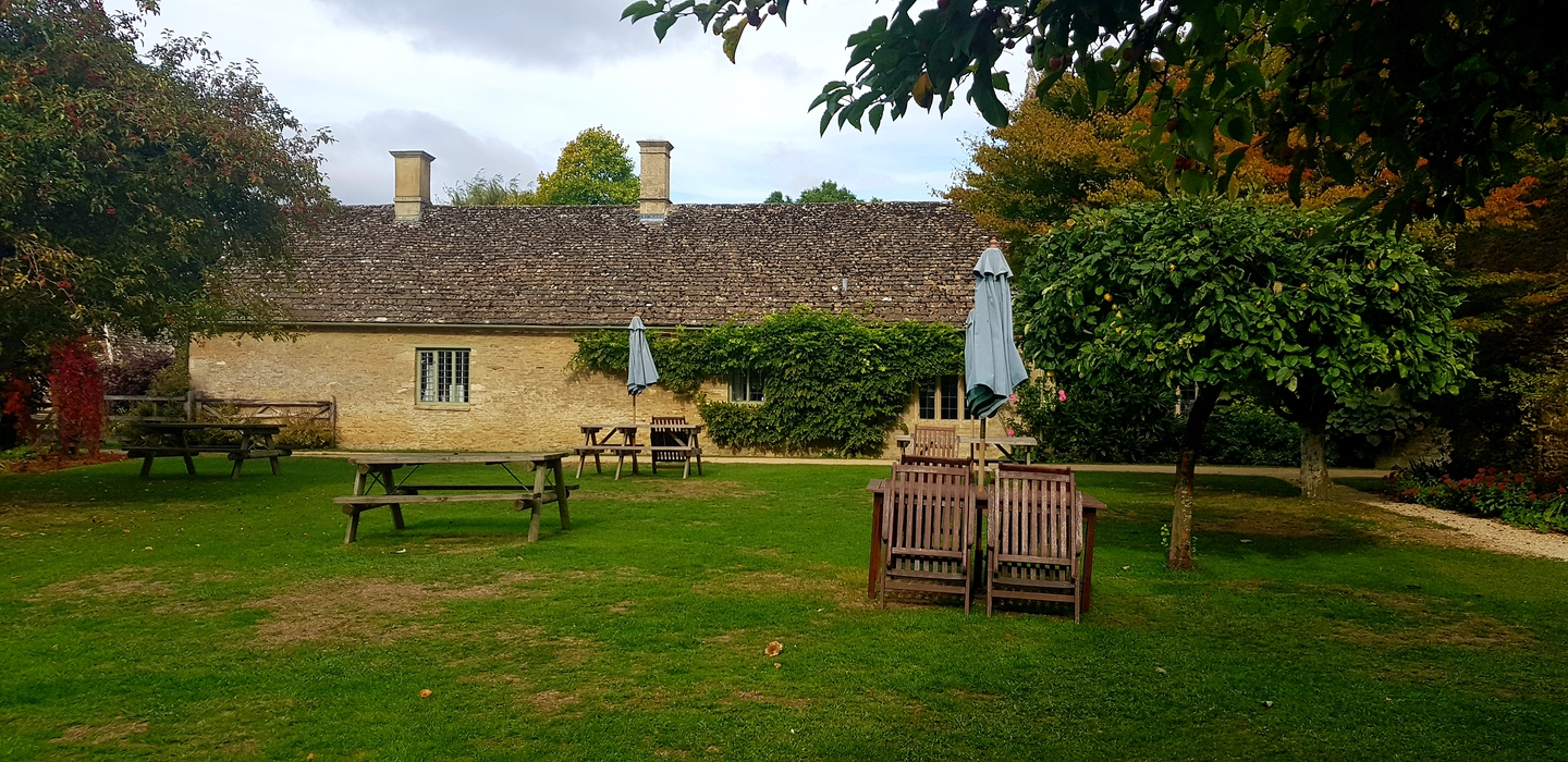 Exterior view of garden at Kelmscott