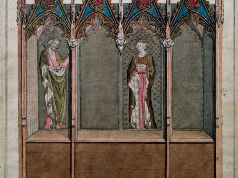 Image of William Blake's drawings of Westminster Abbey